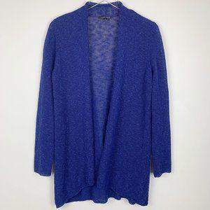 Eileen Fisher linen blend loose knit open cardigan